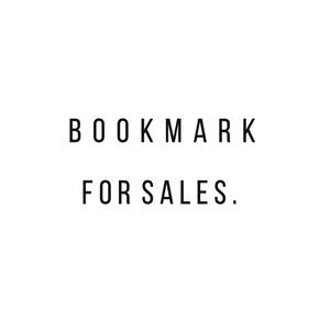 For Future SALES • Bookmark My Closet!